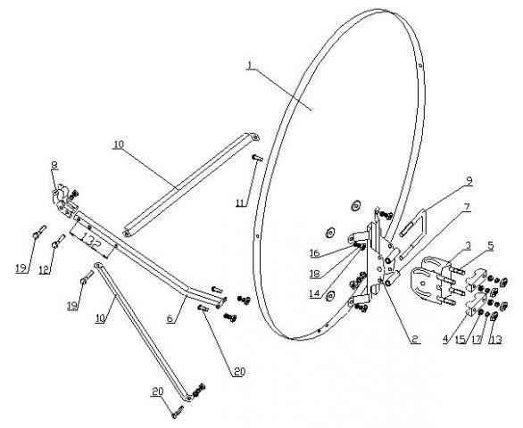 Схема сборки спутниковой